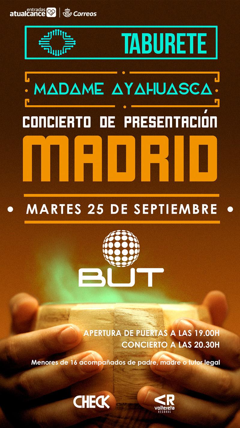 Comprar entradas concierto presentaci n madame ayahuasca for Entradas concierto taburete